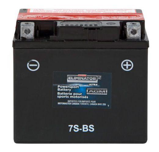 MOTOMASTER ELIMINATOR AGM Powersports Battery, 7S-BS