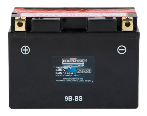 MotoMaster Eliminator Ultra AGM Powersports Battery, 9B-BS