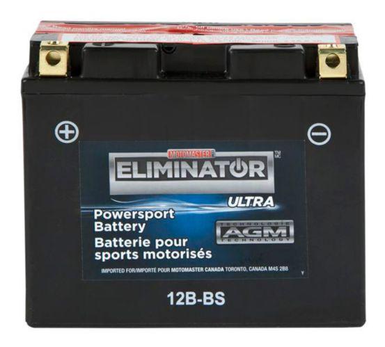 MOTOMASTER ELIMINATOR AGM Powersports Battery, 12B-BS