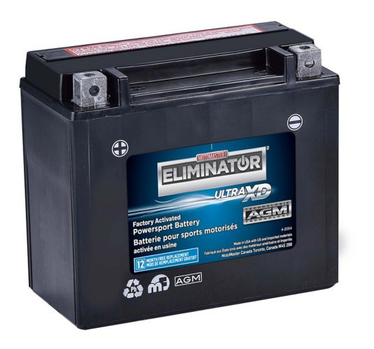 MOTOMASTER ELIMINATOR AGM Factory-Activated Powersports Battery, CTX20H