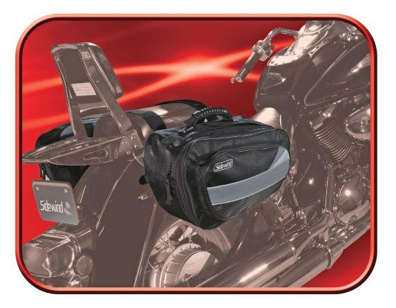 Sidewind Premium Handle Bar Bag, Black/Mossy Oak