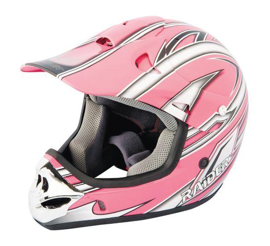 Raider Pink Youth MX-3 Helmet Product image