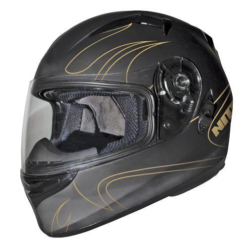 Origine Comp Gold Flames Motorcycle Helmet