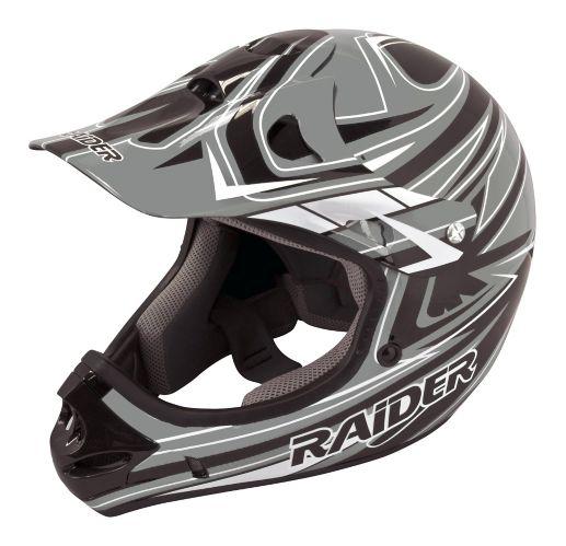 Casque de motocross Raider Rush MX, jeunes, noir/gris