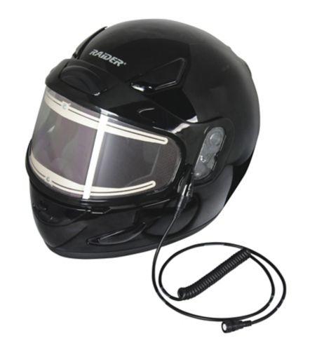Raider Full Face Electric Shield Snow Helmet, Gloss Black
