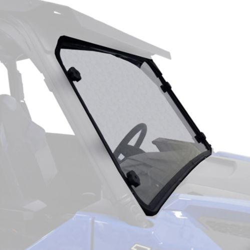 Kolpin Hard Coated Full Fixed Windshield, Polaris Ranger