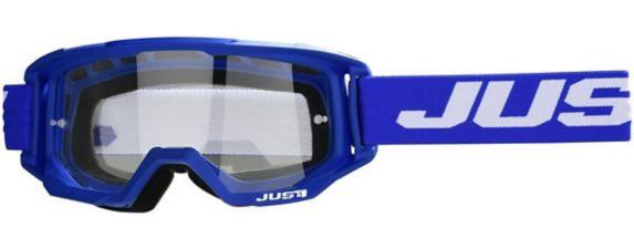 Lunettes pour sports motorisés Just1 Vitro, bleu et blanc
