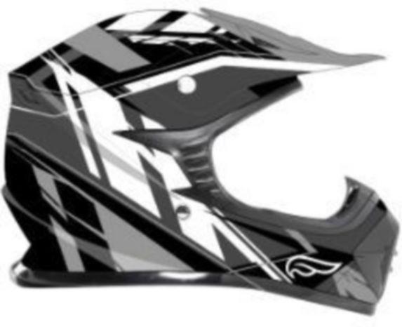 Casque Fulmer Powersports FJ1, jeunes, imprimé graphique noir