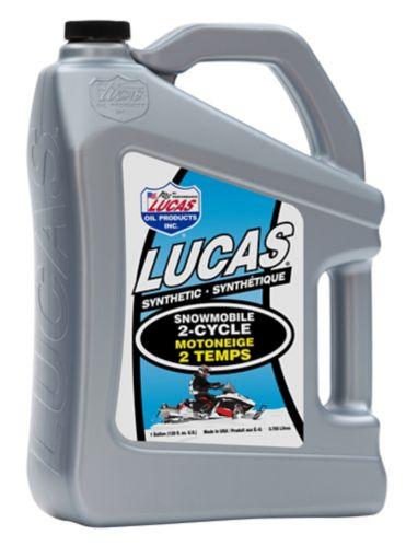 Huile Lucas 2-Cycle pour motoneige, bidon de 3,78 L
