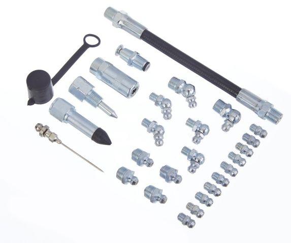 Trousse d'accessoires pour pistolets-graisseurs Motomaster, 27 pces