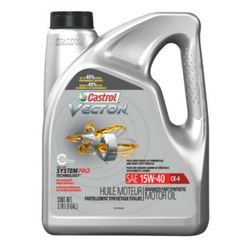 Huile de moteur diesel Castrol Vecton CK-4, 15W40, 3,78 L
