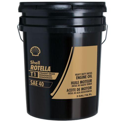 Huile de moteur diesel à usage intensif Rotella T1, grade sec, SAE 40, 18, 9 L