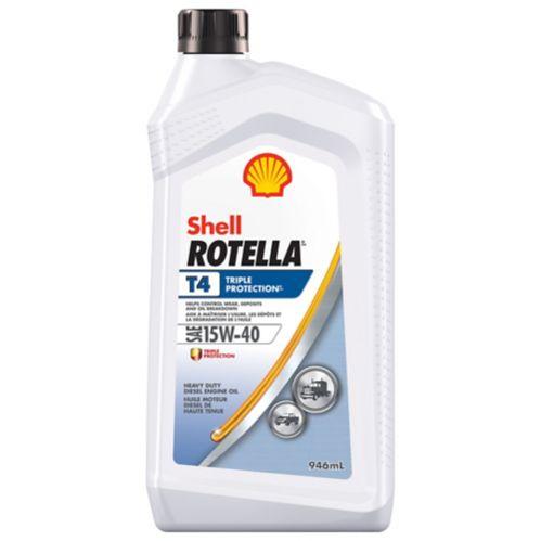 Rotella T4 Conventional Diesel Engine Oil, 15W40, 946-mL