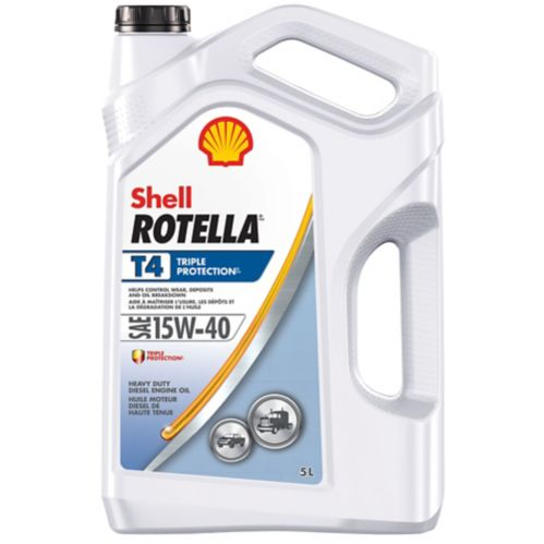 Rotella T4 Conventional Diesel Engine Oil, 15W40, 5-L