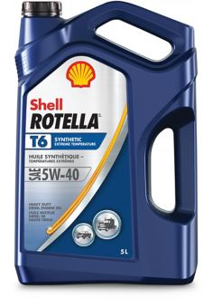 Shell Rotella T6 Synthetic DieselEngine Oil, 5-L