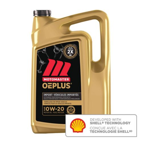 MotoMaster OEPlus Import 0W20 Premium Synthetic Engine Oil, 5-L Product image