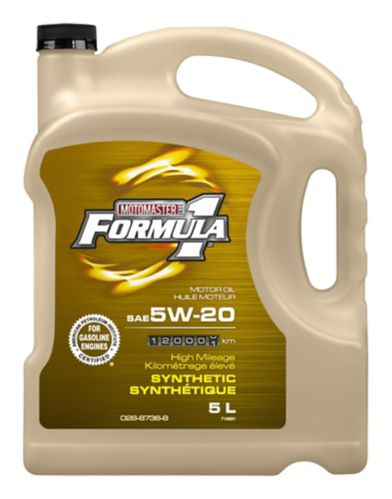 MotoMaster F1 Synthetic High Mileage Oil, 5 L