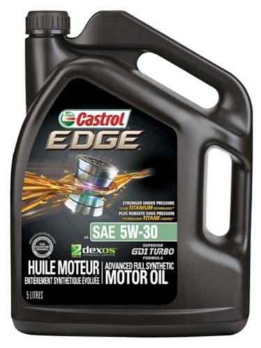 Huile à moteur synthétique Castrol EDGE, 5W30, 5 L