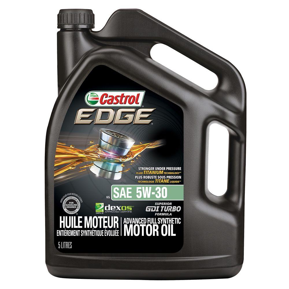 Castrol EDGE Synthetic Motor Oil, 5-L