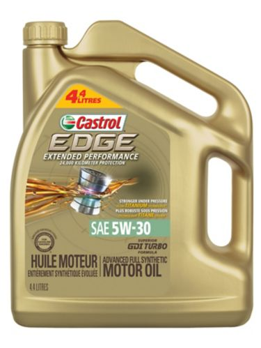 Castrol EDGE 5W30 Extended Performance Synthetic Engine Oil, 4.4-L