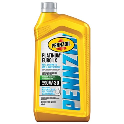 Pennzoil 0W30 Platinum Euro Synthetic Engine Oil, 946-mL