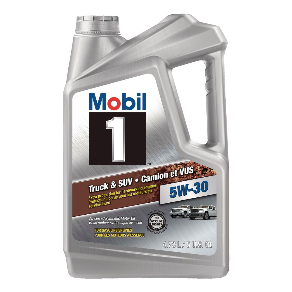 Mobil 1 5W30 Truck & SUV Formula Synthetic Motor Oil, 4.73-L