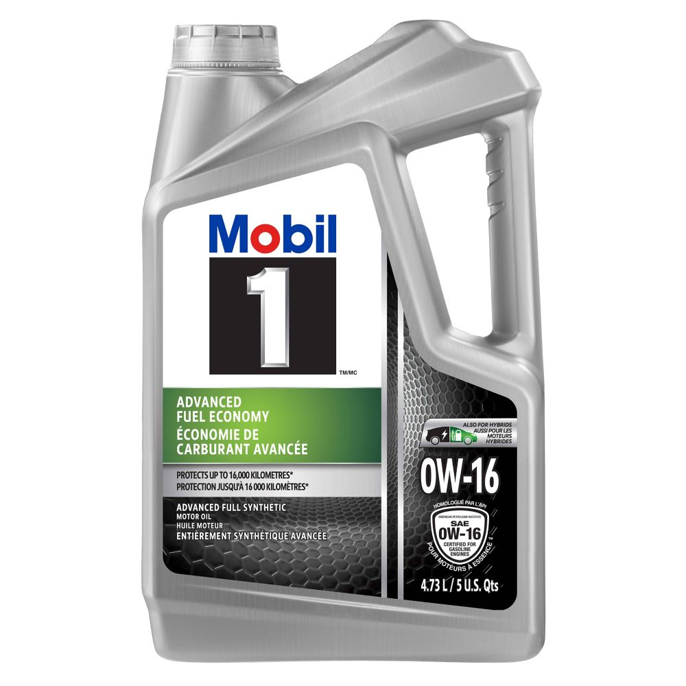 Mobil 1 Advanced Fuel Economy Synthetic Motor Oil, 0W16, 4.73-L