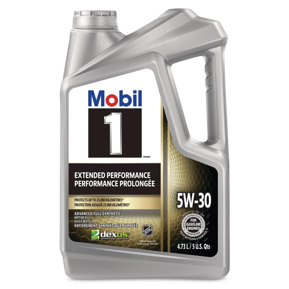Mobil 1 5W30 Extended Performance Synthetic Oil, 4.73-L