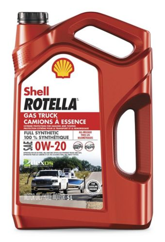 Rotella Gas Truck 0W20 Full Synthetic Motor Oil, 5-L