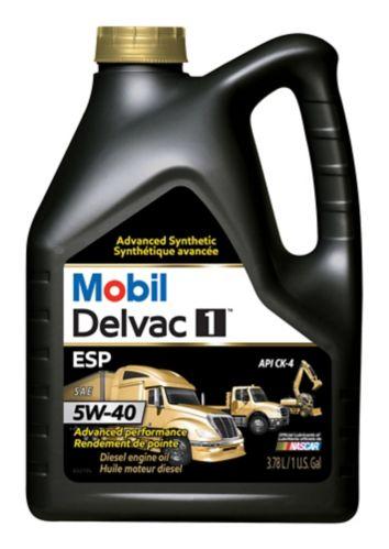 Huile à moteur diesel synthétique Mobil Delvac 15W40, 3,78 L