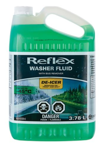 Reflex All-Season Windshield Washer Fluid with Detergent, -45°C, 3.78-L