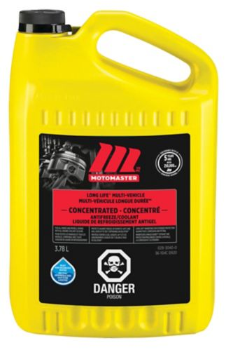 MotoMaster Long-Life Global Concentrated Anti-Freeze/Coolant, 3.78-L