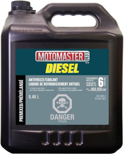 MotoMaster Extended Life Diesel Premixed Anti-Freeze/Coolant, 9.46-L