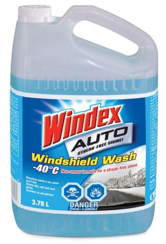 Windex Auto All Season Windshield Washer Fluid -40°C, 3.78-L