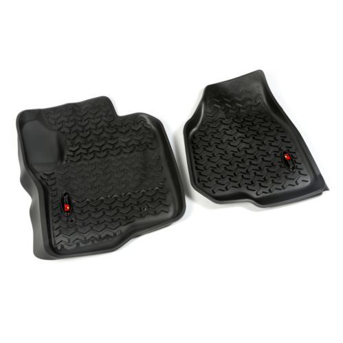 Rugged Ridge Front Floor Liners, Black,12-14 Ford F250/F350 Product image