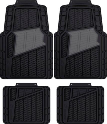 MotoMaster 2-Tone Car Floor Mat Set, 4-pc