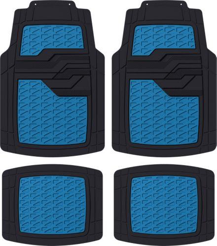 AutoTrends Sporty Floor Mat, Blue, 4-pc