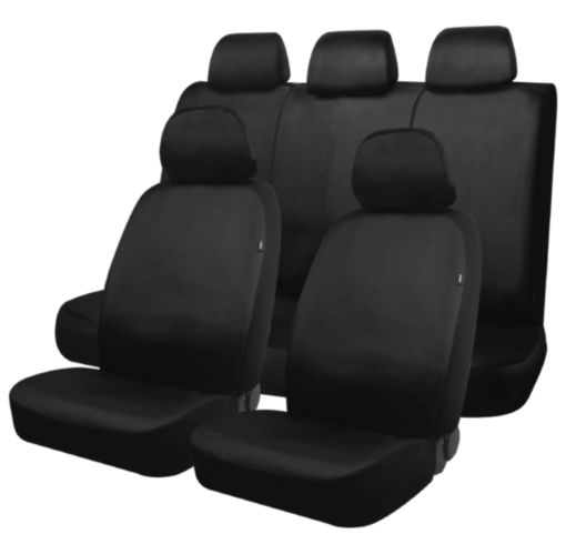 AutoTrends Truck Heavy Duty Seat Cover Kit, Black
