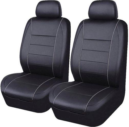 Housse pour siège à dossier bas AutoTrends PVC, noir, paq. 2