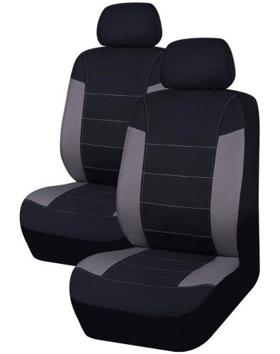 AutoTrends Truck Seat Cover,  Black/Grey, 2-pc