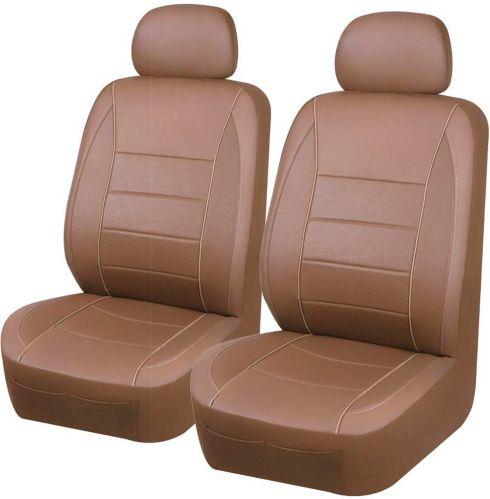 Housse pour siège à dossier bas Glovebox en PVC, brun roux, 2 pces