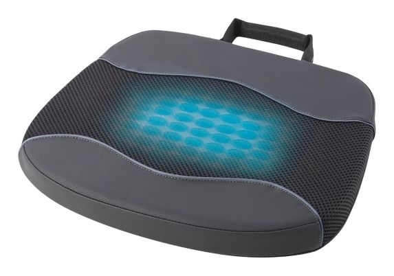 AutoTrends Leather & Mesh Memory Foam Gel Seat Cushion, Black