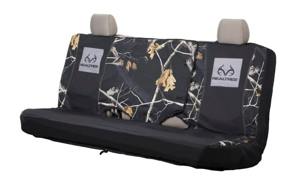 Realtree Bench Seat Cover, Black Product image