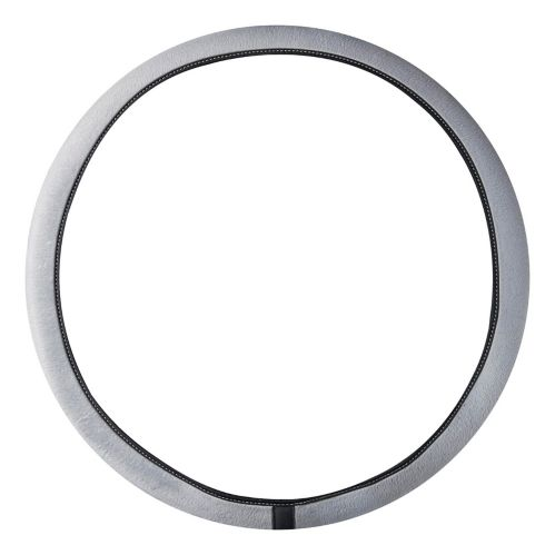 AutoTrends Microvelour Steering Wheel Cover, Grey