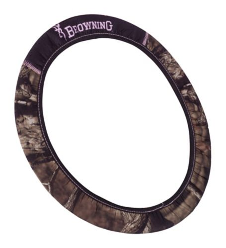 Browning® Mossy Oak® Steering Wheel Cover, Pink Product image