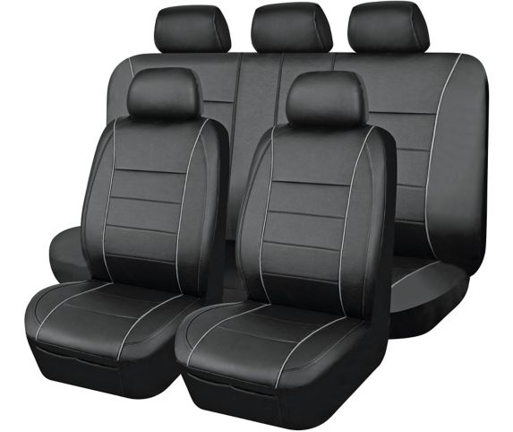 AutoTrends Complete Seat Cover Kit, Black