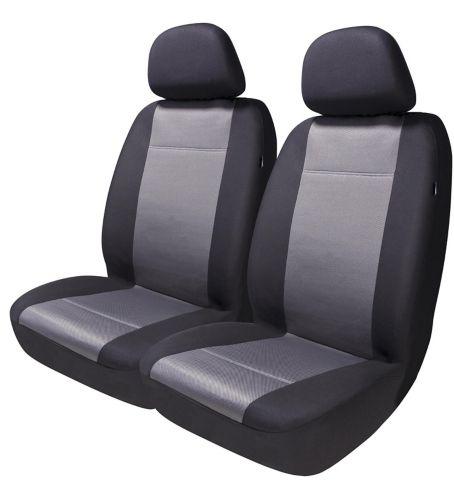 Housse de siège à rayures AutoTrends à dossier bas, noir-gris, paq. 4