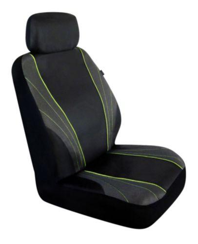 AutoTrends Sporty PVC Low Back Seat Cover