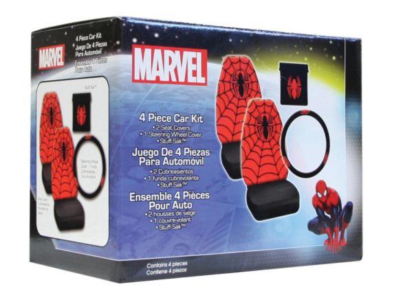 Marvel Spiderman Seat Cover Kit, 4-pc set