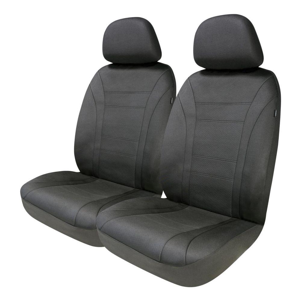 AutoTrends Wetsuit Low Back Front Seat Protectors, Black, 2-pc